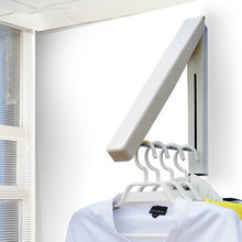 Stainless Steel Wall Hanger Retractable Indoor Clothes Magic Foldable Drying Rack Waterproof Towel