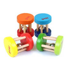 Multicolor Baby brand Gokie rattle/ wooden music instrument toy/ Kids Child Orff early learning educational toys, free shipping