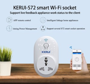 Image 3 - KERUI S72  wifi power socket plug outlet,smart Home Automation APP Control swit With EU AU US UK plug for iphone xiaomi Android