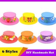 Hat Craft-Toy EVA DIY Children Gifts-Kits Kids 3D for Diy-Hat Environmental