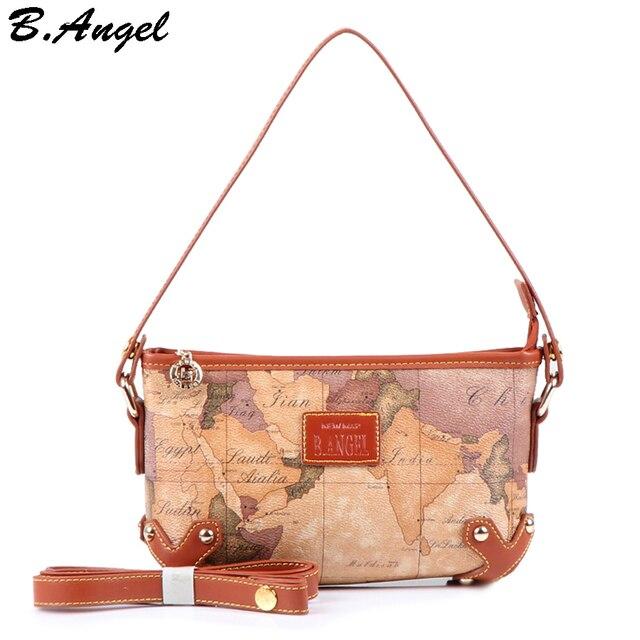 High quality world map women bag shoulder bags women messenger bags fashion bag special handbags women famous brands