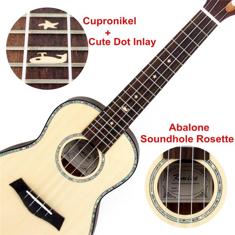 Kmise Concert Ukulélé Ukulélé Tigre Flamme Okoumé Starter Kit 23 pouces guitare classique Tête avec housse de transport Tuner Sangle Chaîne - 3