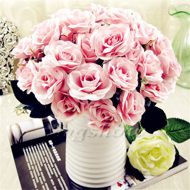 1 Bouquet 12 Head Rose Flower French Rose Artificial Fake Beautiful     1 Bouquet 12 Head Rose Flower French Rose Artificial Fake Beautiful Flowers  Plants Wedding Home Party