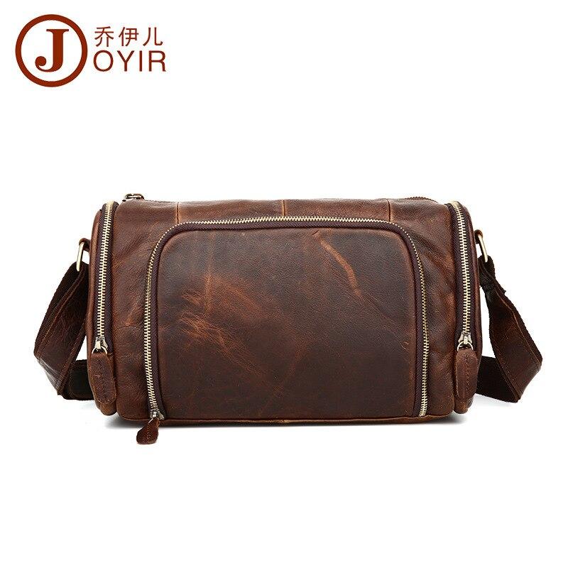 Топ Ковбой 100% модная Натуральная кожа Мужская сумка мессенджер винтажный дизайн подушки сумки мужские горизонтальные повседневные дорожные сумки через плечо - 4