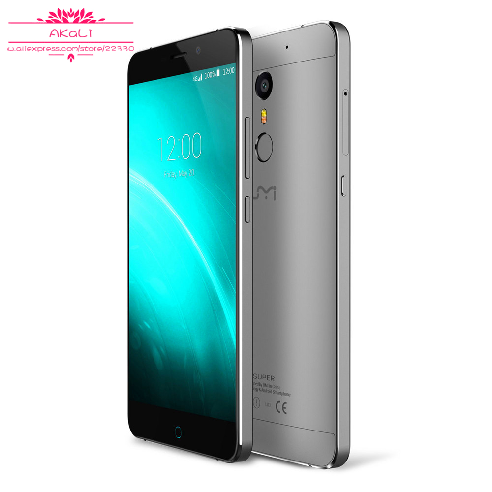 Free DHL Original Umi Super Mobile phone Metal Unibody HiFi 3D-Fingerprint 4GB RAM Android 6.0 4G LTE MTK6755 13MP Octa Core
