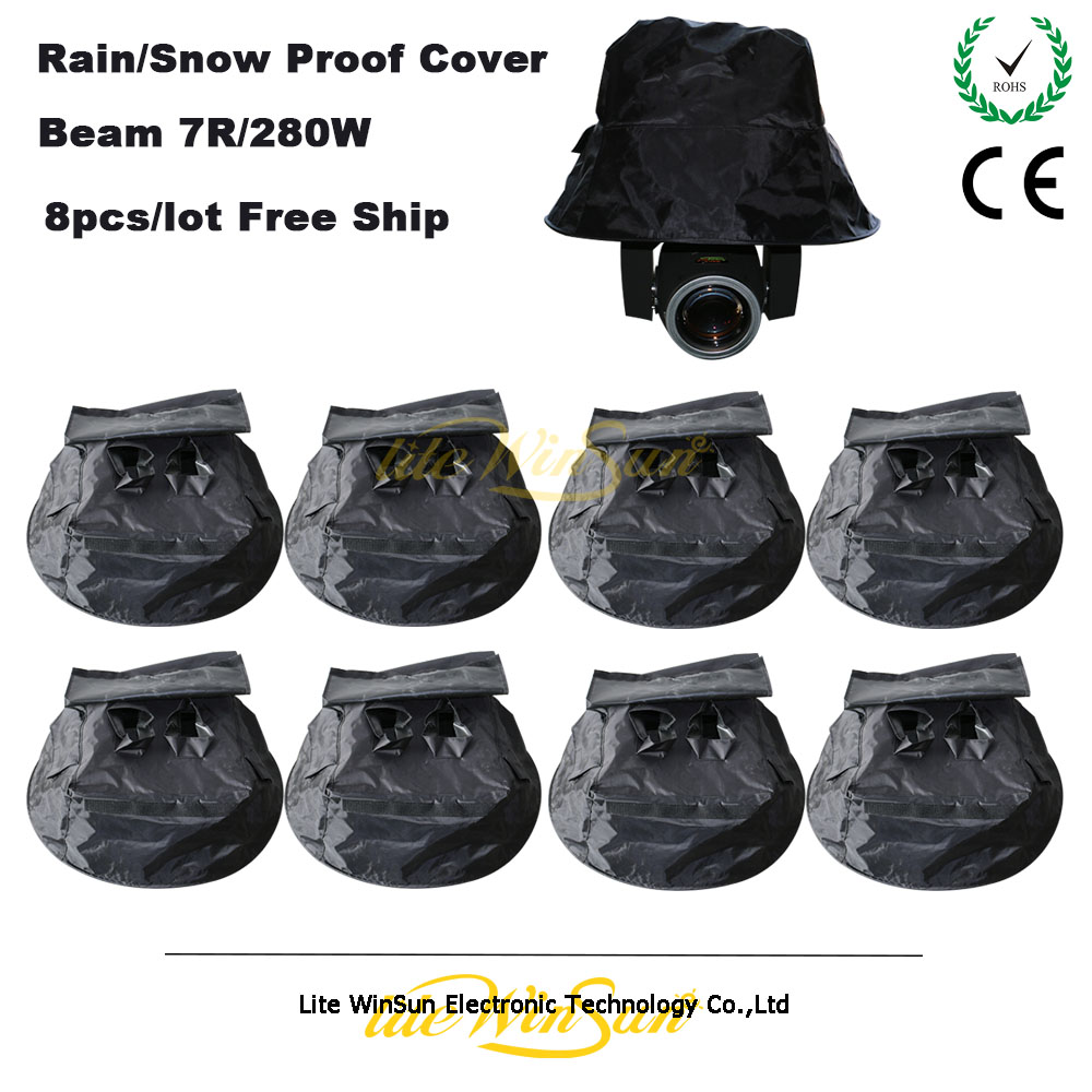 8w 48leds seven color sun pattern plastic stage lamp ac 90 240v - Litewinsune Rain Proof Cover Snow Sun Lighting Protect Cover Outdoor For Beam 5r Beam R7 Beam 260w Beam 280w
