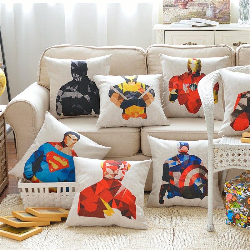 Wedding Cartoon Hero Decorative Cushion