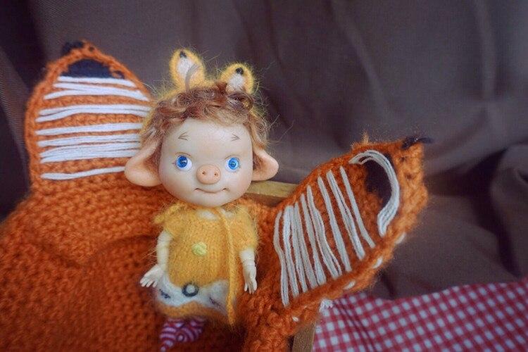 Réservation, mini cochon BJD, corps multi-articulations, adapté pour cadeau et collection, jouets cadeaux faits à la main, réservation nécessaire, série 3. - 3