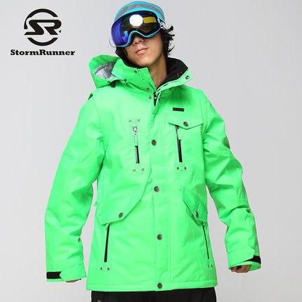 StormRunner Brand Ski Jackets Men Snowboarding Jackets Warm  NEW Snow Coat Breathable Colorful Camouflage Male Ski Jacket