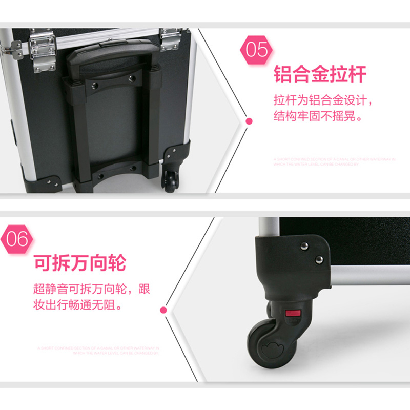 6be2b8f9a3aa Cosmetic Case luggage profession suitcase for makeup Trolley Box ...