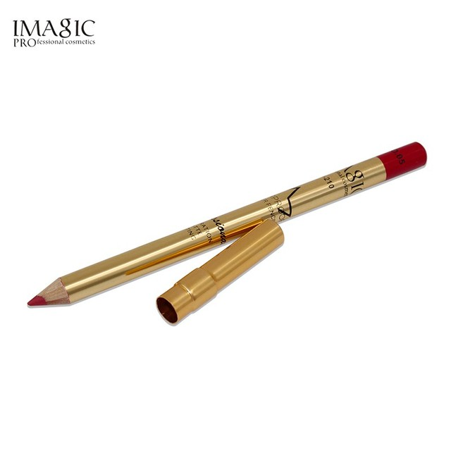 Lip Pencil Color Cosmetic Long Lasting Pigment Sexy Hot Red Brown Sweet Girl Matte Gold Aluminum Cover Matte Lips Contour Lip Liner