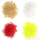 200Pcs/lot 4 Colors Soft Fishing Lures Maggots Worms Bread Bug Bionic Grubs Trout Baits Tackle pesca iscas artificias Hot Sale
