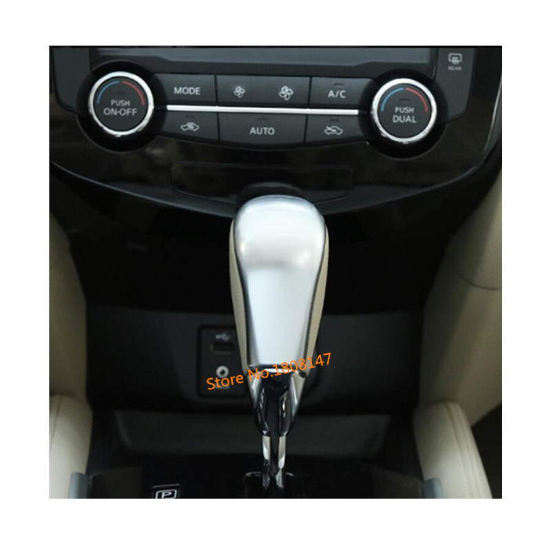 Car sticker cover body Shift knob control frame trim lamp parts 1pcs For Nissan X-trail xtrail T32/Rogue 2017 2018 2019 2020