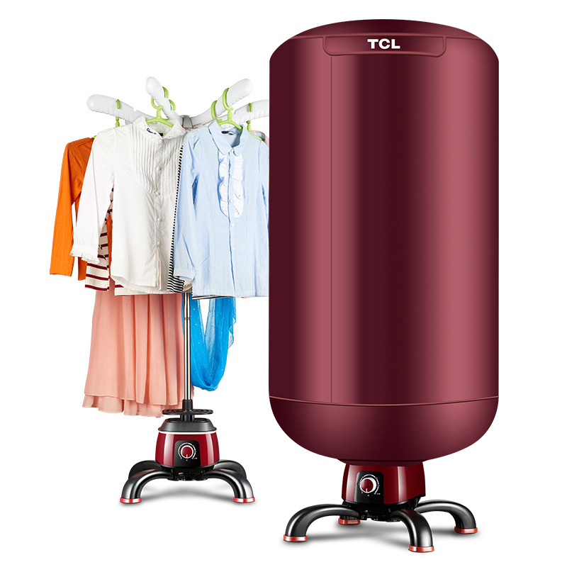 family round Freestanding Clothes Drying Machine Electric Stainless Steel PTC dry clothes machine freeshipping