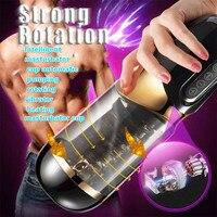 Intelligent masturbator cup automatic pumping rotating vibrator heating masturbator cup male masturbator adult toys pocketpussy