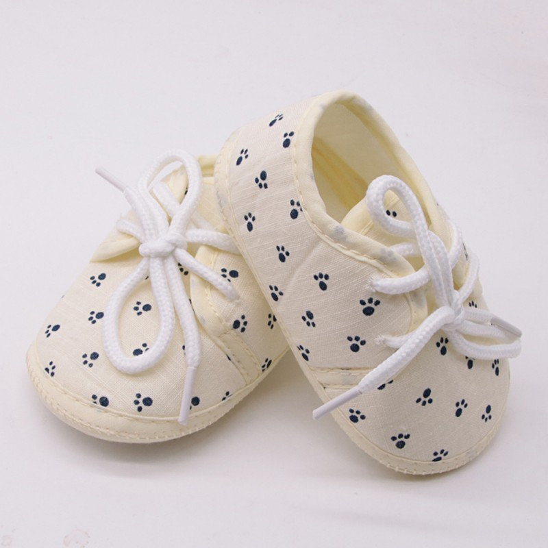 19 New Small Footprint Printing Lace-up Casual Shoes Non-slip Breathable Baby Ahoes Toddler  Newborn