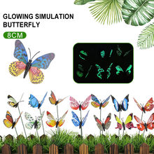 on Sticks Butterfly Garden Decor Lifelike Lawn Craft Lawn Decoration for Garden Ornament 3D Flowerpot for Outdoor Yard Insect(China)