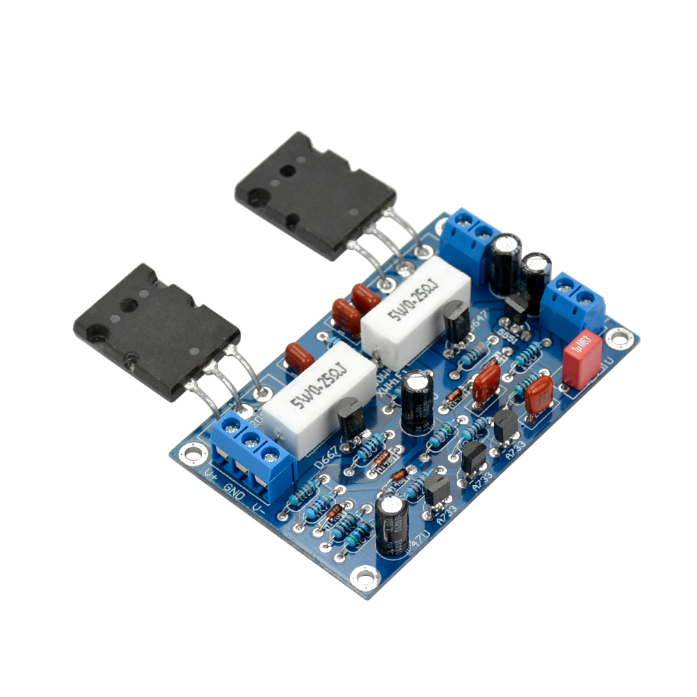 Aiyima 100w Audio Amplifier Board 2sc5200 2sa1943 Mono Channel Hifi 2x100w Class D Circuit Hip4081a 200w Power Dual 35v In From Consumer Electronics On