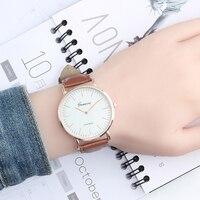 Роскошный мужской часы Простой Бизнес кварцевые Для мужчин часы модные платья женские часы кожаный ремешок спортивные Наручные Часы Montre Femme