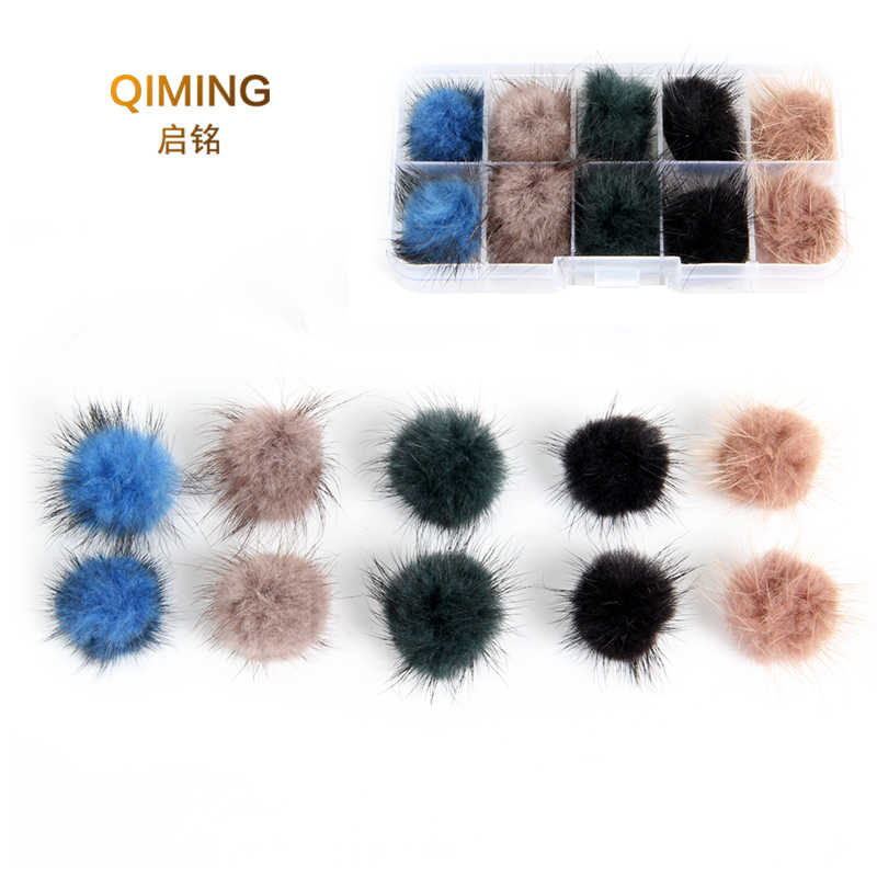 2019 new cute Charm Mink Brooch Pins For Women Korean Fur pompom Ball Piercing Lapel Brooches Collar Jewelry Gift
