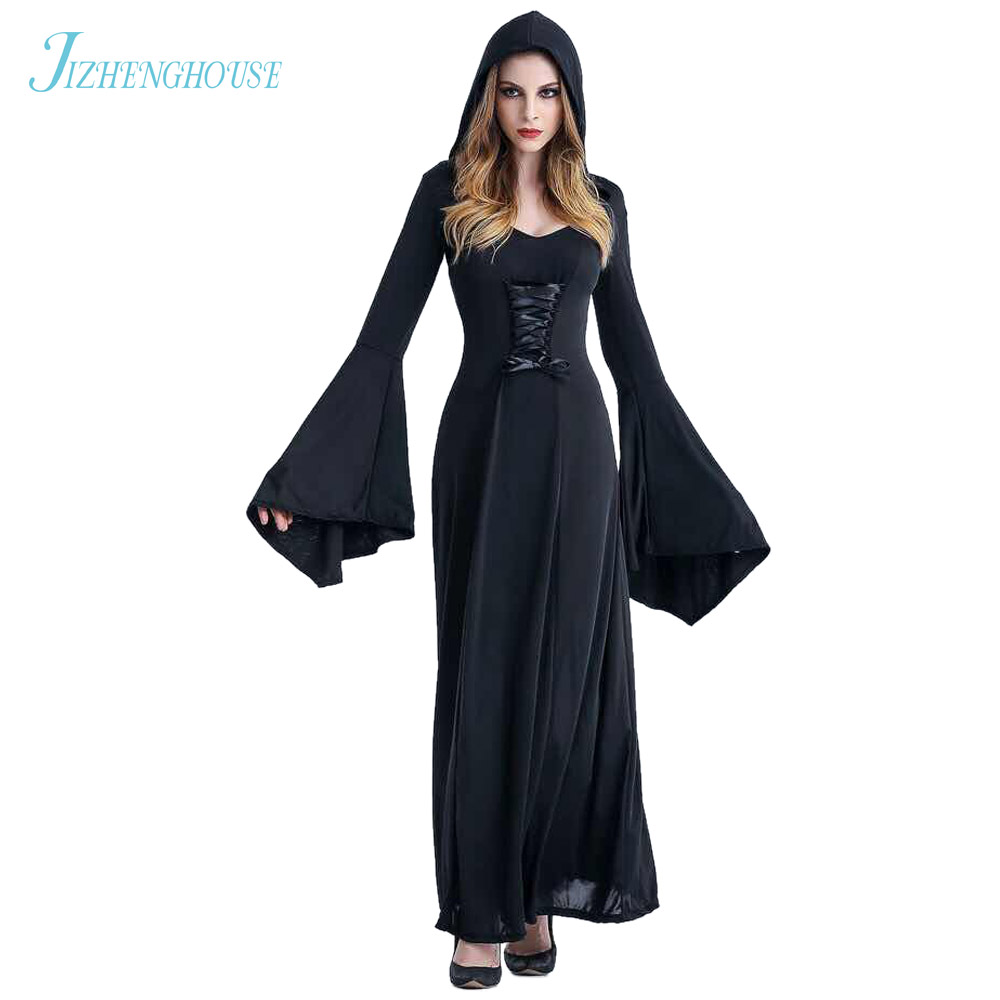 jizhenghouse victorian halloween costumes hoodie witch costume women long dress cosplay clothes women costumechina - Halloween Costumes Prices