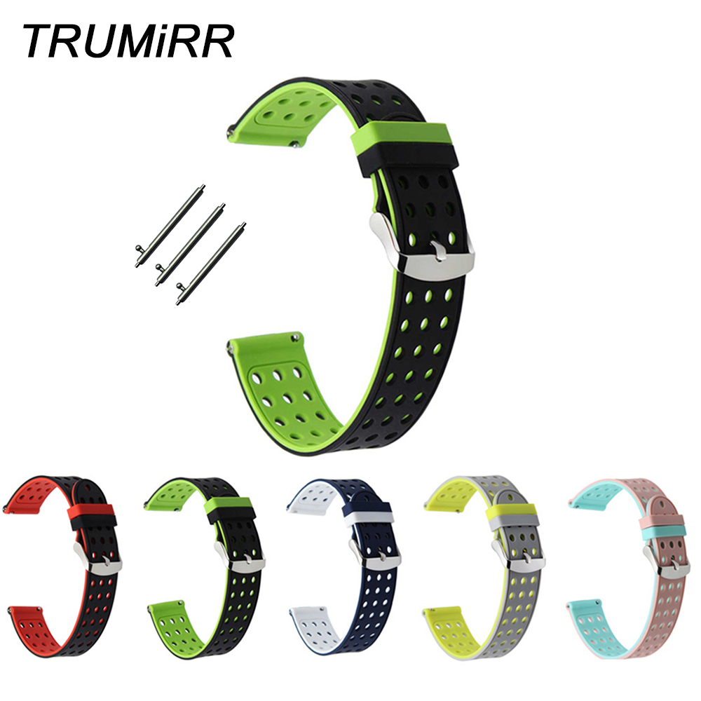 Quick Release Silicone Rubber Watchband Universal Watch Band Sports Strap Wrist Bracelet 17mm 18mm 19mm 20mm 21mm 22mm 23mm 24mm 1 8mm stainless steel quick release pin 12mm 14mm 16mm 17mm 18mm 19mm 20mm 21mm 22mm 23mm 24mm repair spring bar for watch band