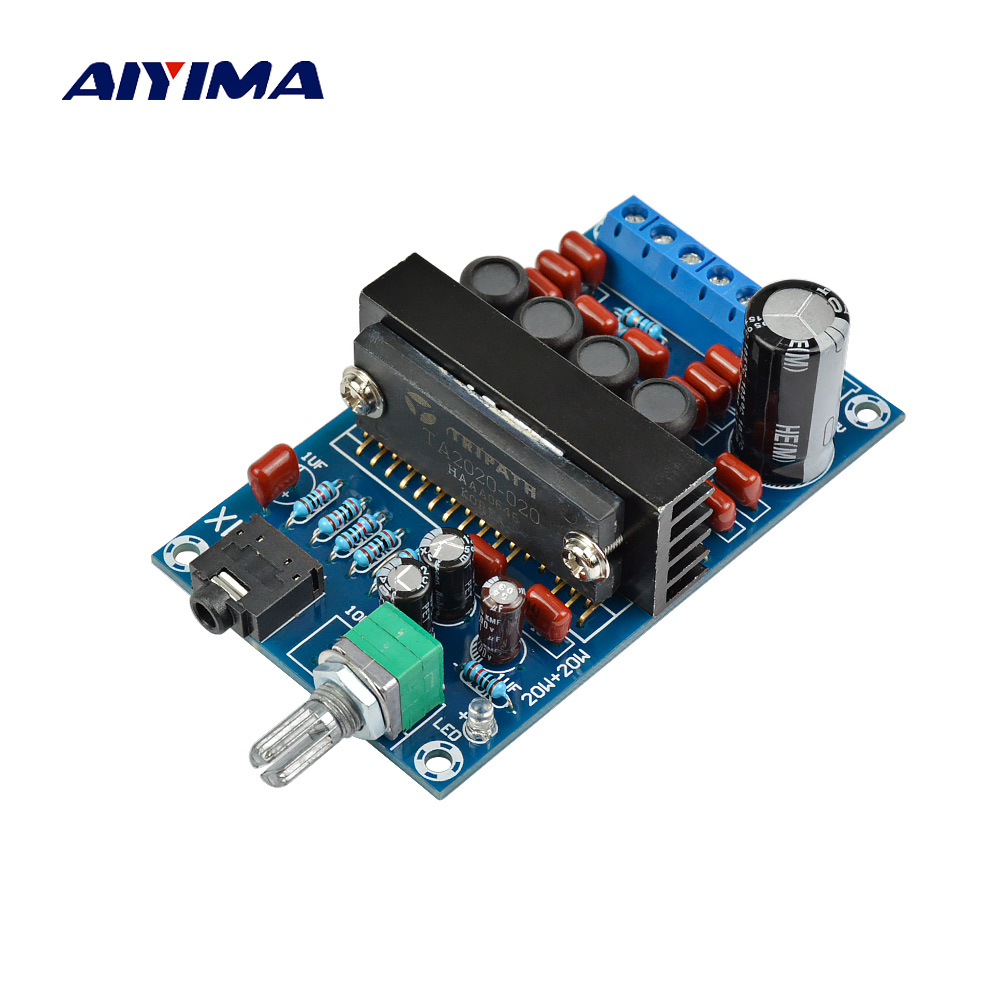 Aiyima TA2020 Digital Amplifier Board 20W*2 Class T Stereo Dual Channel Audio Amplifier DC12V Home Theater лампа автомобильная ксеноновая clearlight xenon premium 150