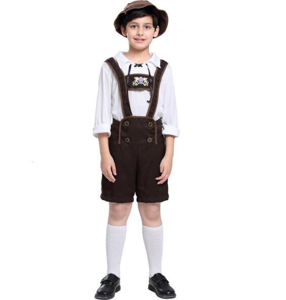 kid fashion boy Germany Bavaria Oktoberfest beer festival work clothes Costume Halloween Carnival Party Cosplay  A042