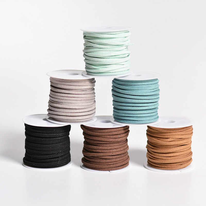 5 m plana camurça do falso diy artesanal miçangas pulseira de jóias fazendo corda fio coreano cabo de couro para colares & pulseira