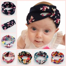 цена на Yundfly 3pcs Newborn Headwear Girls Twist Knot Cotton Headband Children Print Flower Hair Bands Headwraps Kids Hair Accessories
