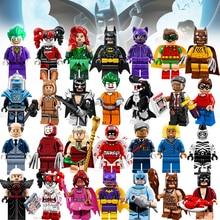 Joker Harley Quinn Mini Brick Single Sale Super Heroes Robin Catwoman Glam Metal Batman Building Block