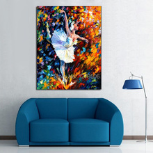 100%Handpainted Abstract Beautiful Ballet Girl Knife Thick Oil Painting On Canvas Wall Picture For Home Decor As Best Gift цена 2017