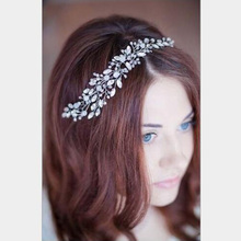 Crystal Hairband Floral Bridal Headband Women jewelry Wreath hair ornaments bride tiara wedding accessories