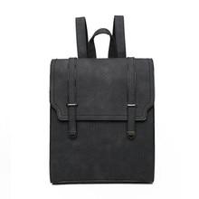 Крутой Уокер разработан новый модный бренд кожаный рюкзак однотонные Для женщин Рюкзак High Qualityn Обувь для девочек школьная сумка женская