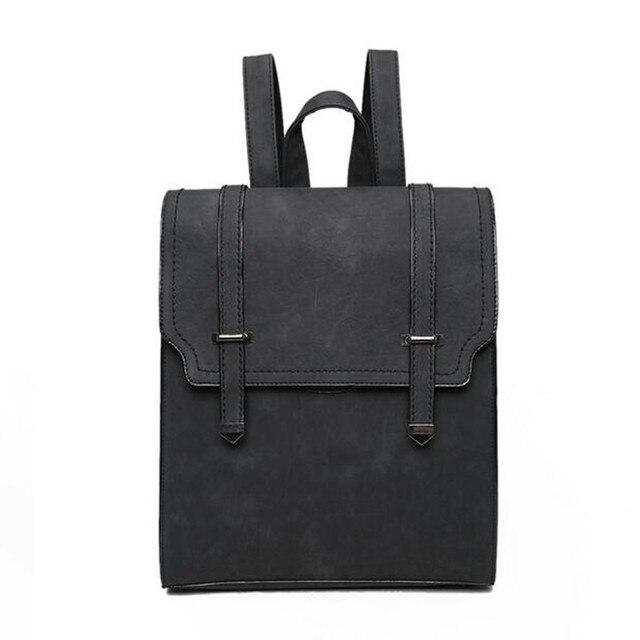 New Designed Brand Fashion Leather Backpack Solid Simple Women Backpack High Qualityn Girls School Bag Ladies Shoulder Bag