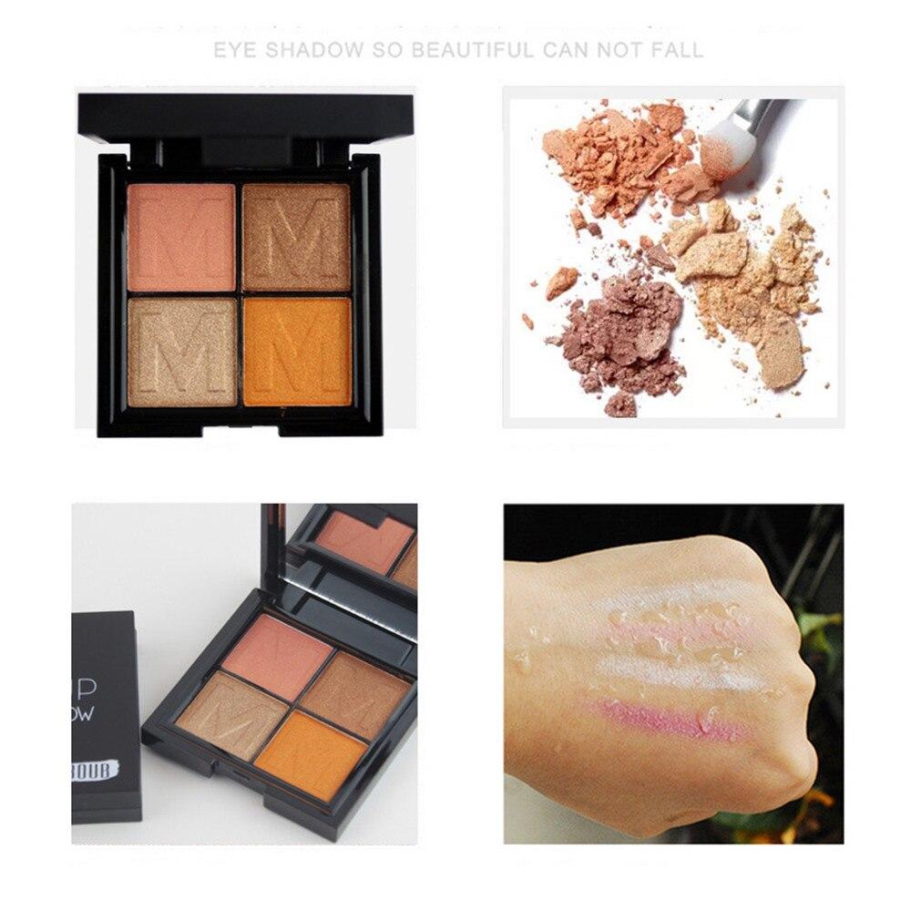 4 Color Ladies Cosmetics Waterproof Lasting Pearls Eye Shadow Plate maquiagem profissional completa 40*