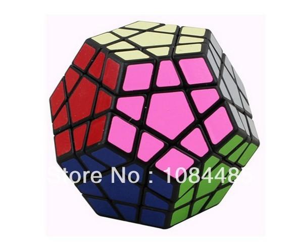 Nueva Dodecahedron cubo mágico 12 superficies Speed negro y torsión blanco poligonal Puzzle toy