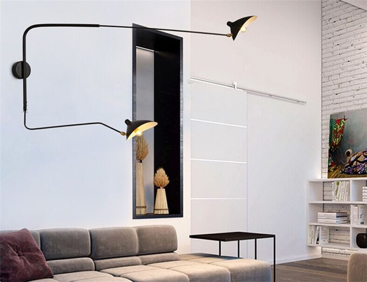 Modern Decoration 2 Head Living Room Serge Mouille Wall Light 2 Arm Bedroom  Duckbilled Light Dining Room Light Free Shipping