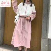 Harajuku Women Summer Dress Plus Size Lolita Dress Halloween Party Oversize Pink Lace Zipper Loose Fashion Casual Dress