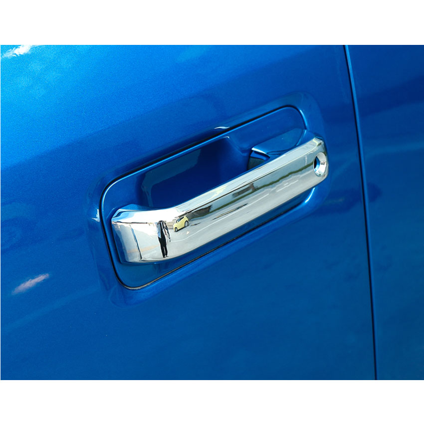 4Pcs/set Car Exterior Door Handle Trim Cover Sticker Fit For Ford F150 2014 2015 2016 2017 Styling Car covers