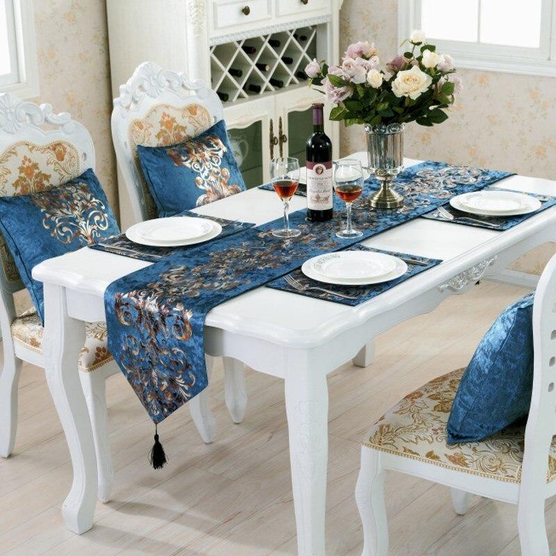 tavolo di lusso corridore artigianato artigianato stile delleuropa argento a caldo casa tovaglia 4
