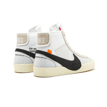 Official Original Nike Blazer Mid Off White  Men's basketball shoes Outdoor sports AA3832-100