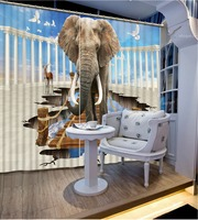3d curtains Europe style animal Elephant Curtains for living room Curtains for bedroom Home Decoration