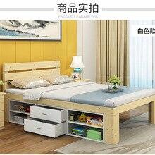 Детская кровать, детская мебель для дома, детская кровать из цельного дерева с 6 ящиками, горит enfant, детское гнездо, moveis muebles 160*100*40 см