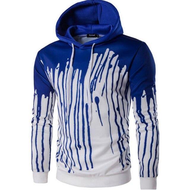Brand 2016 Hoodie Casual Ink-Jet Digital Printed Hoodies Men Fashion Tracksuit Male Sweatshirt Off White Hoody Mens Purpose Tour