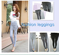 New Women Autumn False Two Sets Elastic Pants Lace Leggings Hollow Pencil Skirts