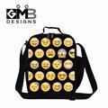 Dispalang QQ emoji печати обед сумки для детей школьного тепловой обед carry хранения юмор выражения переносная сумка для пикника