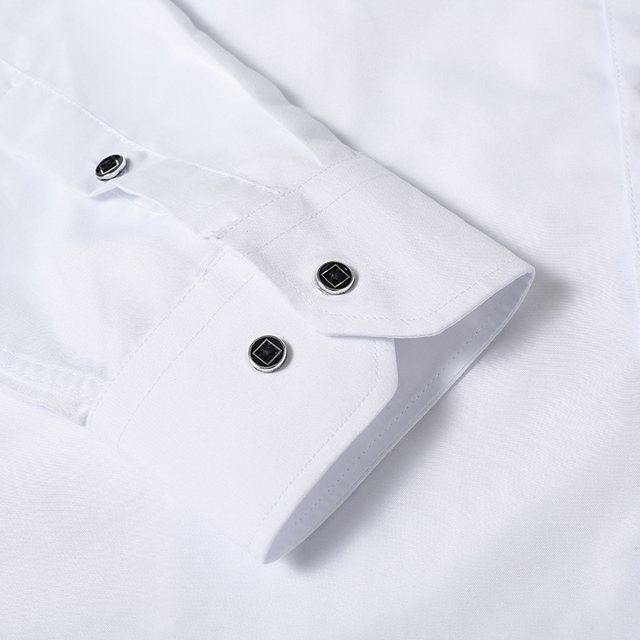 Men's Luxury White Long Sleeve Shirt