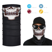 Motorcycle Ghost Rider Skull Skeleton Bandana Headwear