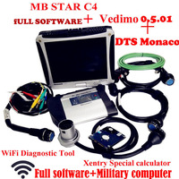 Top Quality Mb Star C4 2018 5 Vediamo+DTS Work for Mercedes Star Diagnosis with Panasonic CF19 Notebook Work for Car&truck